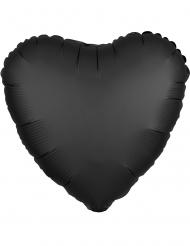 Musta sydänilmapallo 43 cm