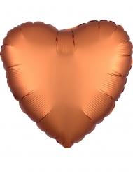 Kuparinvärinen sydänilmapallo 43 cm