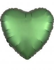 Vihreä sydänilmapallo 43 cm