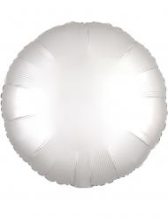 Valkoinen pyöreä ilmapallo 43 cm