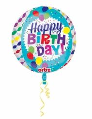 Läpinäkyvä Happy Birthday- ilmapallo