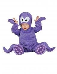 Violetti hupullinen mustakala-asu vauvalle