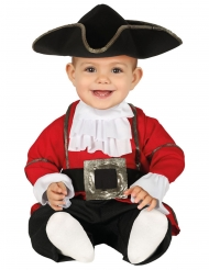 Punainen merirosvon naamiaisasu vauvalle