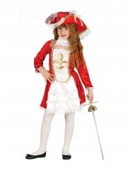 Punaisen muskettisoturin naamiaisasu tytölle