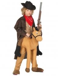 Cowboy hevosen selässä- asu lapselle
