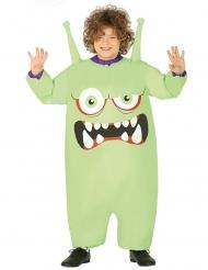 Vihreän monsterin ilmatäytteinen naamiaisasu lapselle