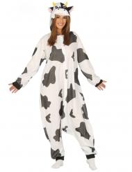 Mustavalkoisen lehmän naamiaisasu aikuiselle