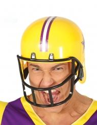 Amerikkalaisen jalkapallon keltainen kypärä aikuiselle
