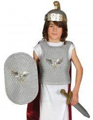 Roomalaisen sotilaan hopeanvärinen asustesetti lapselle