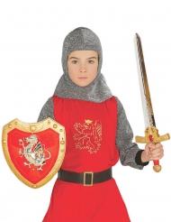 Ritarin kilpi ja miekka-setti lapselle