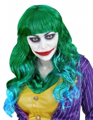 Psykopaattipellen vihreäsininen peruukki naiselle