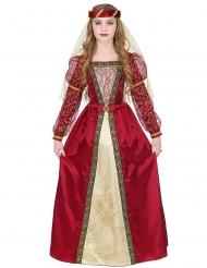 Keskiaikaisen prinsessan upea naamiaisasu tytölle
