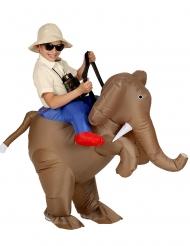 Seikkailija elefantin selässä- asu lapselle