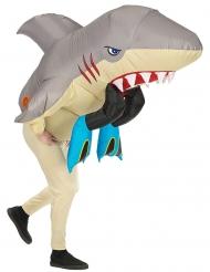 Hyökkääva hai- ilmatäytteinen asu aikuiselle