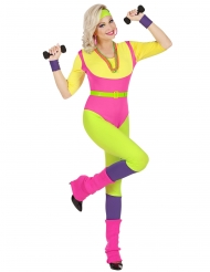 80-luvun aerobic-ohjaajan naamiaisasu naiselle