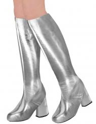 60-luvun hopeanväriset kengänpäälliset