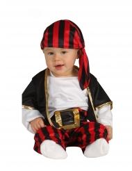 Merirosvokapteenin punamusta naamiaisasu vauvalle