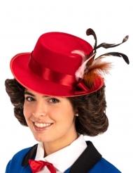 Punainen englantilaisen sairaanhoitajan hattu aikuiselle