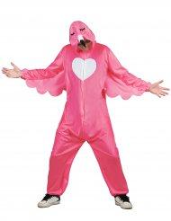 Vaaleanpunainen flamingo-asu miehelle