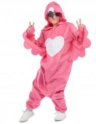 Flamingon pinkki naamiaisasu tytölle