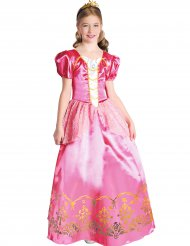 Vaaleanpunaisen prinsessan naamiaisasu tytölle