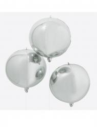 Metallinhohtoinen hopeanvärinen ilmapallo 55 cm