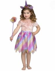 Yksisarvisen violetti tylliasu tytölle
