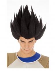Vegeta Saiyan Dragon Ball™ musta peruukki aikuiselle
