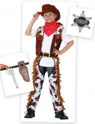 Cowboyn naamiaisasu ja asusteet pojalle