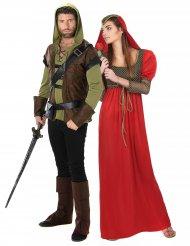Jousimiehen ja prinsessan keskiaikainen pariasu