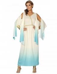 Sinivalkoinen kreikkalainen jumalatar- naamiaisasu naiselle