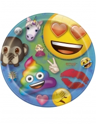 Emoji Rainbow™- pienet pahvilautaset 18 cm 8 kpl