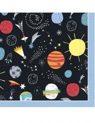 Mustat avaruusservetit 33 x 33 cm 16 kpl