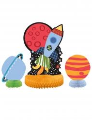 3 Avaruus-pöytäkoristetta 25 cm ja 15 cm