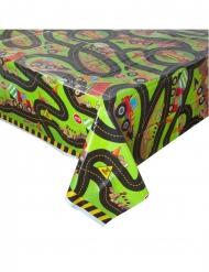Työmaa -muovinen pöytäliina 137 x213 cm