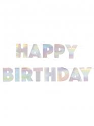 Happy Birthday- sateenkaarenhohtoinen köynnös 2,20 cm
