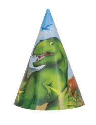 8 Dinosaurus- juhlahattua