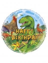 Alumiininen Happy Birthday- dinosaurus ilmapallo 45 cm