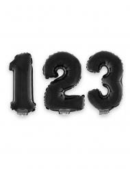 Musta numeroilmapallo 40 cm