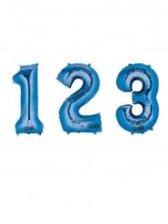 Sininen numeroilmapallo 88 cm