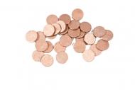 Ruusukultaiset pöytäkonfetit 1,2 cm 10 g