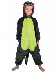 Vihreä dinosaurus -naamiaisasu lapselle