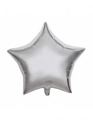 Alumiininen hopeanvärinen tähti-ilmapallo 40 cm