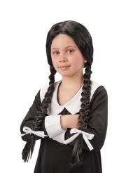 Musta koululaisen letitetty peruukki tytölle