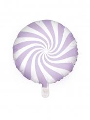 Alumiininen violettivalkoinen tikkari-ilmapallo 45 cm