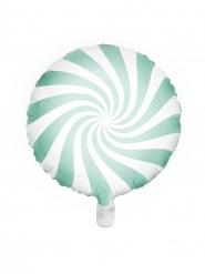 Alumiininen mintunvärinen/valkoinen tikkari-ilmapallo 45 cm