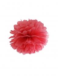 Punainen paperinen pompon 35 cm