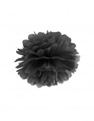 Ripustettava musta pompon 35 cm