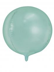 Pyöreä alumiininen mintunvärinen ilmapallo 40 cm