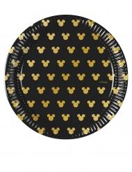 Mickey Gold™- pienet pahvilautaset 8 kpl 20 cm